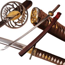 $enCountryForm.capitalKeyWord Australia - Handmade Japanese Sword High Carbon Steel Sharp Samuri Katana Full Tang Blade Espada Can Cut Bamboo Knife Forged Crafts Swords Home Decor