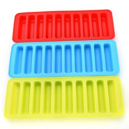 $enCountryForm.capitalKeyWord UK - Reusable Cylinder 10 Silicone Ice Cube Tray Mold Freeze Ice Mould For Water Bottle Pudding Jelly Chocolate Cookies Mold Maker