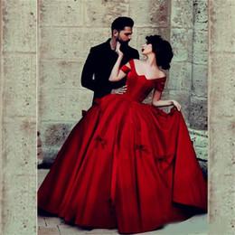 $enCountryForm.capitalKeyWord Australia - Sais Mhamad Red Prom Dresses Ball Gown Cap Sleeve Satin Velvet Long Evening Dresses High Quality Princess Dancing Wear Women Party Gowns