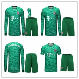 19 20 Bayern de Munique PAVARD Neuer camisa de futebol 2019 2020 LEWANDOWSKI MULLER HERNANDEZ KIMMICH camisa de futebol kit Adulto HOM conjuntos de Goleiro em Promoiio
