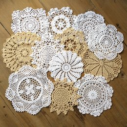 "$enCountryForm.capitalKeyWord Australia - lot of 12 Per design 1 PCS Nice Happy flower Crochet doily pattern round doilies ~ Diameter 7""-8""-9"" White handmade table mats coasters"