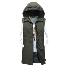 Wholesale Vest men s long down jacket cotton lovers lovers autumn and winter fashion warm casual hooded down vest AM82