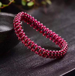 $enCountryForm.capitalKeyWord Australia - Natural 6A wine red garnet bracelet crystal bracelet female hand-woven section to send girlfriend gift accessories jade
