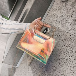 $enCountryForm.capitalKeyWord Australia - Summer Transparent Women Shoulder Bag Nice New Fashion Laser Leather Pu Jelly Bags Female Messenger Totes Bags Composite Bag