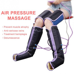 leg massaging machines NZ - Air Compression Leg Massage Electric Blood Circulation Leg Wrap Massage Machine For Body Arm Foot Ankle Calf Therapy Pain Relief