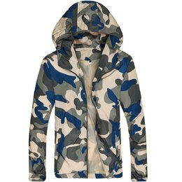 6ea916ebc5c0d Camouflage Lightweight Jackets Men Hooded Slim Fit Long Sleeve Zipper Coat  Army Tactical Military Jackets Men Clothing 2019
