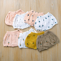 infant christmas bloomers UK - INS Baby Cherry cactus radish print Shorts Toddler PP Pants Boys girls Bread Pants Summer Bloomers Infant Briefs Underpants 11 styles Z0322