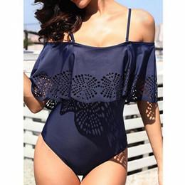 6f7c7f2273a Off Shoulder One Piece Swimwear Australia - Plus Size Off Shoulder Ruffle One  Piece Cut Out