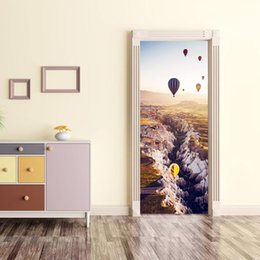 the balloon UK - Air Balloon Sticker 3d Simulation The Door Is Stuck Can Shift Stickers Bedroom A Living Room Diy Refurbished Wallpaper Mt003