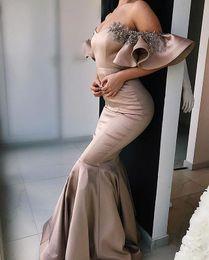 $enCountryForm.capitalKeyWord Australia - 2019 Dubai Style Crystal Evening Dresses Off The Shoulder Mermaid Elastic Stain Formal Occasion Prom Dresses Custom Made Hot Sale