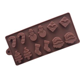 $enCountryForm.capitalKeyWord Australia - Newly DIY Cake Silicone Mould Mold Christmas Shape Fondant Chocolate Biscuits Baking Tools