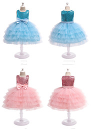 $enCountryForm.capitalKeyWord Australia - Girls' Wedding Dresses Flower Girl Princess Skirts sequined children cake layers ball gown children boutiques clothes for halloween X'mas