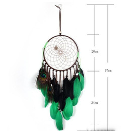 hanging wind chimes wholesale Australia - Fashion Long Feather Dangle Dreamcatcher Wind Chimes Home Decorations For Women Men Indian Style Dream Catcher Charming Car Hanging
