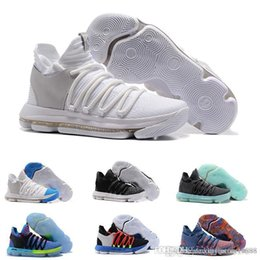 new arrivals 4dcb4 63d8a Free shipping 2019 New Zoom KD 10 EP Basketball Shoes Kevin Durant X kds  10s Rainbow Wolf Grey KD10 FMVP Sports Sneakers 7-12