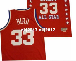 9bf2adeb9f7 Sewn East 1987 Larry Bird  33 AD Top red Jersey Mens Vest Top Size XS-6XL  Stitched basketball Jerseys Ncaa