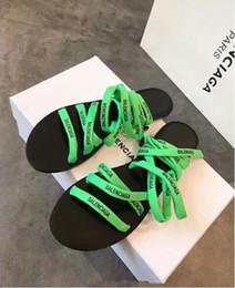 B Flat Australia - B alenciaga Slippers new French sandals 2019 fashion flat-bottomed comfortable sandals