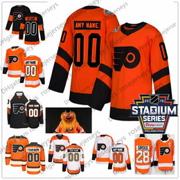 China Custom Philadelphia Flyers 2019 Stadium Series Orange Jersey Any Number Name men women youth kid White Black Hartman Gritty Giroux Voracek 0 cheap flyers voracek jersey suppliers