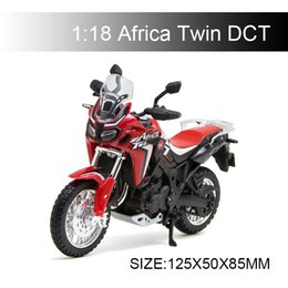 Motor Bicycles Australia - 1:18 Motorcycle Model Africa Twin DCT Model bike Alloy Motorcycle Model Motor Bike Miniature Race Toy For Gift Collection