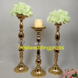 $enCountryForm.capitalKeyWord Australia - new Gold Metal Candle Holders Stand Flowers Vase Candlestick Road Lead Candelabra Centre Pieces Wedding best747