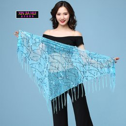 $enCountryForm.capitalKeyWord Australia - Triangle Piece Chain Scarf Waist Performance Practice Fashion Shiny Tassel Sequin Belly Dance Accessories Chinese Market Online