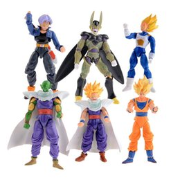 Action Figures Goku Super Saiyan Australia - 6pcs lot Dragon Ball Dbz Anime Goku Vegeta Piccolo Gohan Super Saiyan Joint Movable Dragon Ball Z Pvc Action Figures Toys Y190604