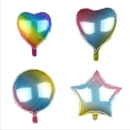 Rainbow balloons online shopping - Colour Balloon Rainbow Balloon Love Balloons five pointed star Balloons Birthday Party ballute New style Party Supplies YYSY125