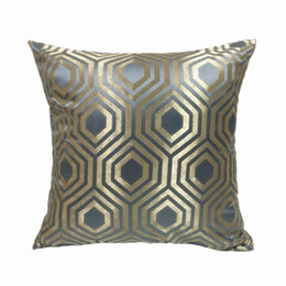 $enCountryForm.capitalKeyWord UK - Fashion Shiny Check Beige Gray Blue Geometry Interior Decorative Pillow Case Square Floor Sofa Chair Home Deco Bedding Cushion Cover 45x45cm