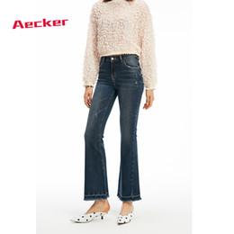 Women Blue Jeans Pants Australia - Aecker Womens Slim Blue High Waist Jeans For Woman Ripped Jeans Trousers Micro-pants Fashion Ladies