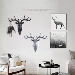 $enCountryForm.capitalKeyWord Australia - Wall Rack Hook Deer Head Antlers for Clothing Display Key Hat Bag Hanger Room Decor Living Roon Bedroom Decoration Hook Home Decorations