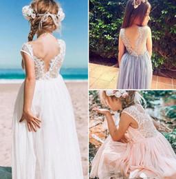 $enCountryForm.capitalKeyWord Australia - Kids Dresses for Girls Wedding Summer lace back net gauze flamboyant skirt Dresses for Children Sundress