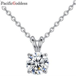 StainleSS Steel jewelry Sell online shopping - 2019 hot sell CZ Crystal Stone round sharp necklace pendant jewelry necklace pendant fashion jewel
