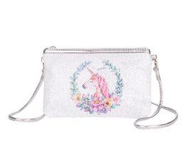 $enCountryForm.capitalKeyWord Australia - 2019 Sequins Shoulder Bag Women pu unicorn Printed Crossbody Messenge Bag 3Colors Zipper Ladies Cosmetic Chain Bag