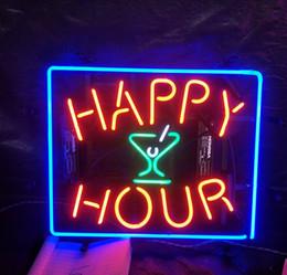 $enCountryForm.capitalKeyWord UK - HAPPY HOUR Cocktails Neon Sign Light Restaurant Advertising Entertainment Decoration Art Display Glass Lamp Metal Frame 17'' 24'' 30''40''