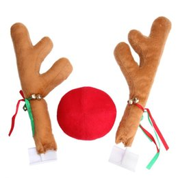 Discount car window toys - Christmas Party Fun Car Decoration Toy Windows Reindeer Deer elk Cerf Okapi