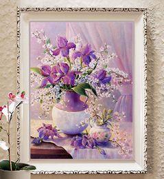 $enCountryForm.capitalKeyWord Australia - 5D DIY Diamond Flower Arrangement Flower Vase Cross Stitch Diamond Embroidery Mosaic Diamond Home Decor