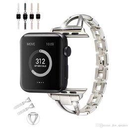 Girls Smart Watches Australia - Girl Women Jewelry Watchband for iWatch Apple Watch 38mm 40mm 42mm 44mm Series 4 3 2 1 Alloy Metal Diamond Band Link Bracelet Strap