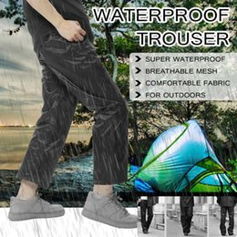 Discount outdoor riding pants - Outdoor hiking pants rain pants men women walking mountaineering travel bike riding rain waterproof trousers