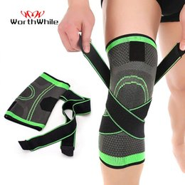 elastic knee sleeve support Australia - WorthWhile 1PC Sport Pressurized Kneepad Elastic Knee Pads Support Sleeve Basketball Volleyball Brace Training Fitness Protector