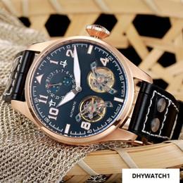 Power Reserve Men Sport Watches Australia - Luxury Mechanical Automatic Watch For Men Top Quality Sports 44mm Swiss Wristwatch Male Fashion pilot Brand Watches