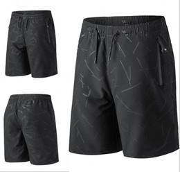 Опт US Stock Мужские шорты черные повседневные свободные шорты короткие брюки спортивный бег длина до колен летние открытые Мужские шорты спортивные брюки FY9112