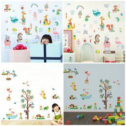 $enCountryForm.capitalKeyWord Australia - 1pc mural pvc cartoon animal wall sticker jungle zoo tree nursery baby kids room decal