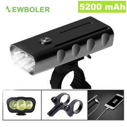 Chinese  Newboler 5200mah Bike Light Kit T6 L2 Flashlight For Bicycle 2400 Lumen Led Lantern Usb Headlight Mount Bracket Cycle Fornt Lamp C19041301 manufacturers