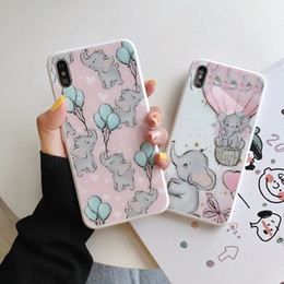 Elephant Phone Cases Australia - Cartoon Dumbo Phone Case For iPhone 7Plus Xs Max Xr lovely elephant Matte imd