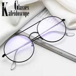 2af6e0d54c2 Retro Round Glasses Frame Women Men Fashion Fake Glasses Clear Lens Female  Brand Designer Vintage Myopia Optical Eyeglasses