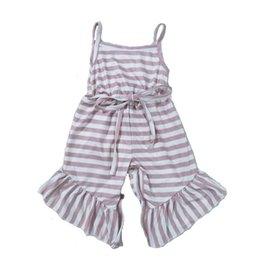 $enCountryForm.capitalKeyWord Australia - High-quality summer girls' and children's boutique striped jumpsuit
