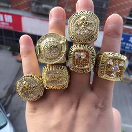 Wholesale 6pcs set 2000 2001 2002 2009 2010 2016 Los Angeles Basketball World Championship Ring Wholesale Free Shipping US SIZE 11#