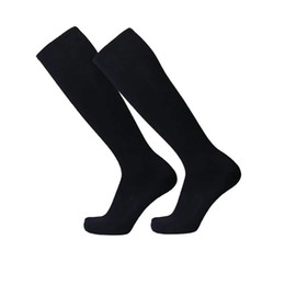 red knee high stockings 2019 - Autumn Winter Sport Men's Compression Stocking Cotton Over Knee High Elastic Sock Long Socks discount red knee high