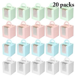 $enCountryForm.capitalKeyWord UK - Cute Mini Biscuit Candy Box Single Muffin Box Portable Pink Window Cupcake Box Mousse Mud Pudding Bottle Packaging Cup Gift SH190920