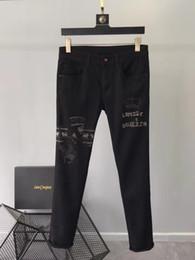 Party Jeans Australia - Fashion Men's Jeans 2019 Runway Luxury famous Brand European Design party style Men's Clothing WD02496