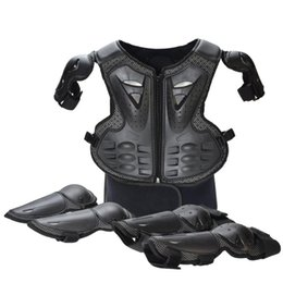 full body protector motocross UK - Children Full Body Protector Vest Armor Kids Motocross Armor Jacket Chest Spine Protection Gear elbow shoulder Knee guard